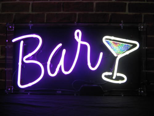 19 BAR 2 Neon Hire Sign